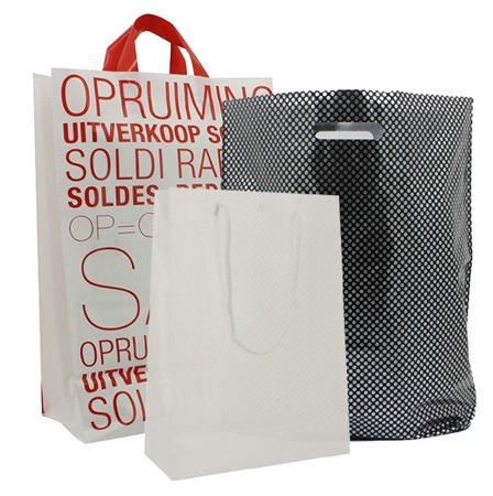 Onbedrukte PLASTIC draagtassen