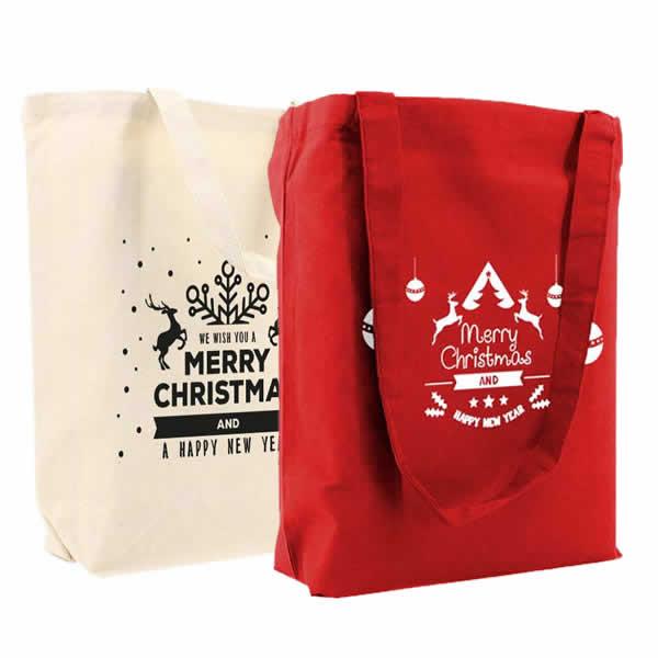 Vilten kerst draagtassen