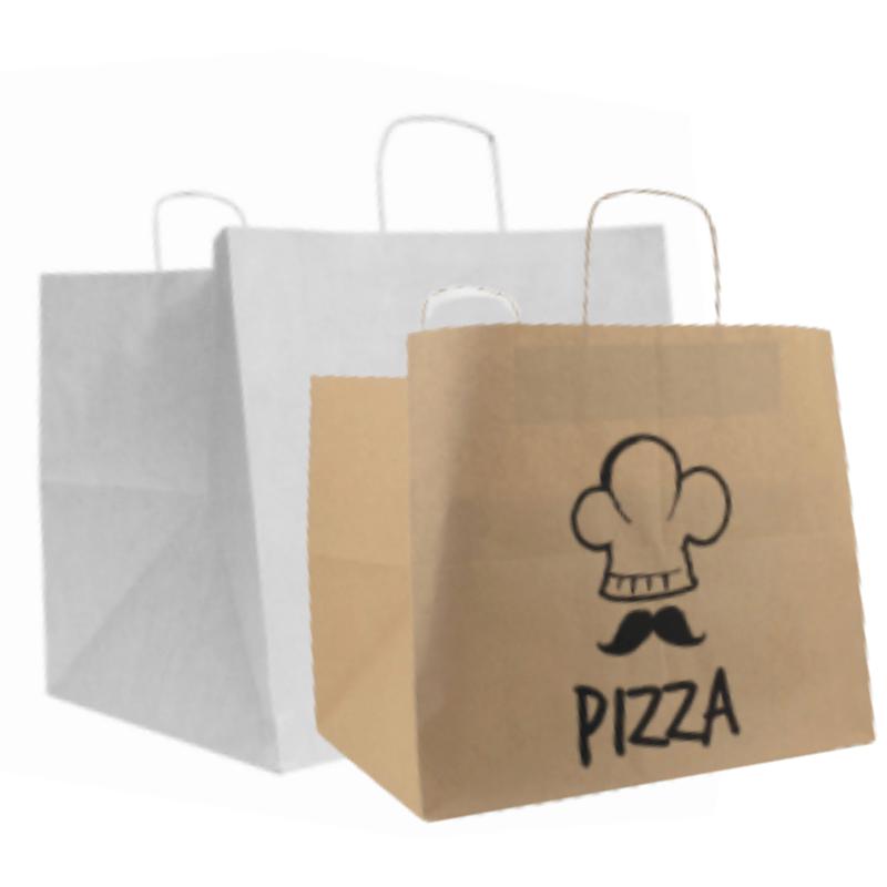 Take-away pizza tassen